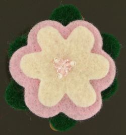 Whimsy Kisses ~ A bit of whimsy for your life :  wool felt hairclip whimsykisses whimsy kisses